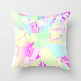 Colorful Crystals Throw Pillow