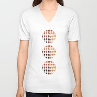 brown V-neck T-shirts featuring Brown by zAcheR-fineT