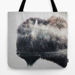 Wild West Bison Tote Bag
