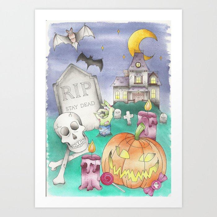 Halloween Night. Art Print