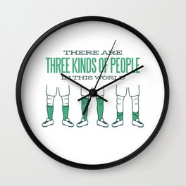 There Are Three Kinds Of People Soccer Wall Clock