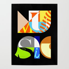 Music Typography Poster