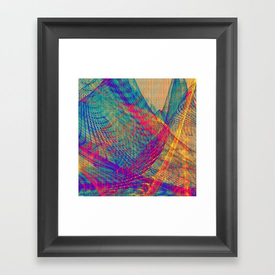 Tulle Hills Framed Art Print