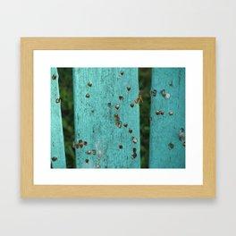 Good Old Wood Framed Art Print