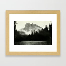 Mount Burgess and Emerald Lake Framed Art Print