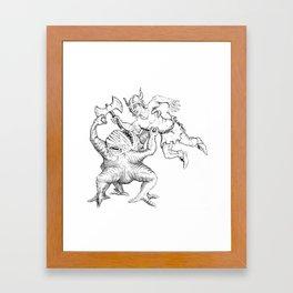 Xorn Fight Framed Art Print