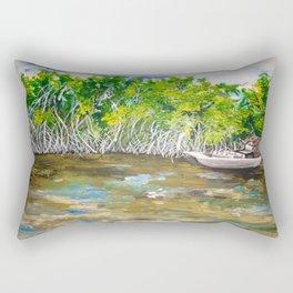 Florida Mangrove Tea Water in the Everglades Rectangular Pillow