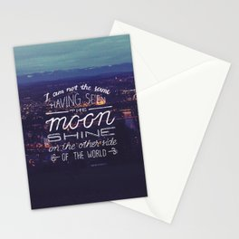 moon quote Stationery Cards