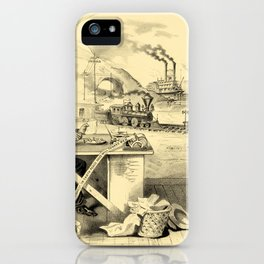 The Progress of the Century (Currier & Ives) iPhone Case