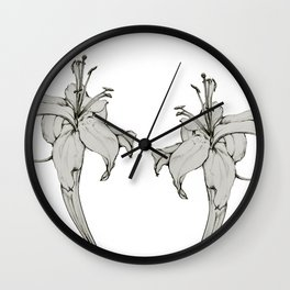 Lily sketch Wall Clock