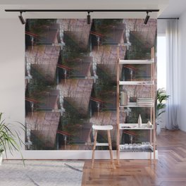 Rooftops see-through pattern Wall Mural