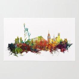 Colored New York City skyline Rug
