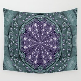 Star and flower mandala in wonderful colors Wall Tapestry