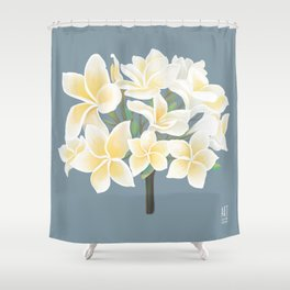 PLUMERIA flower - by Greta Darets Shower Curtain