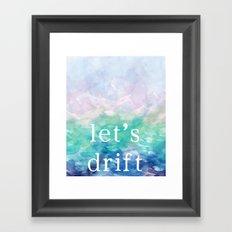 Let's Drift in a Watercolor Framed Art Print