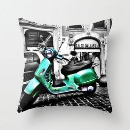 Roma Vespa Throw Pillow