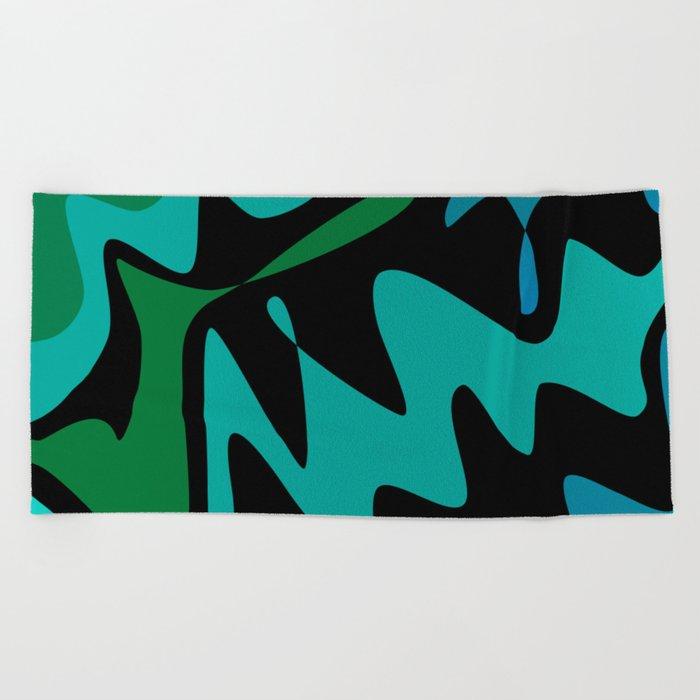 Camo Splat Beach Towel