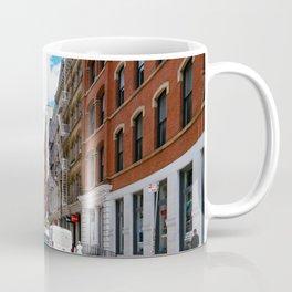 Greene street in Soho, New York Coffee Mug