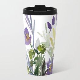 5. Flower Painting, Watercolor Flowers, Flower Art, Watercolor Flower Painting, Floral, Home Office Travel Mug