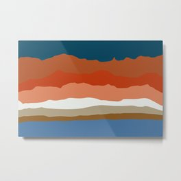 Abstract Mountains and Hills negative colors Metal Print