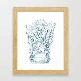 Hipster Sailor Framed Art Print