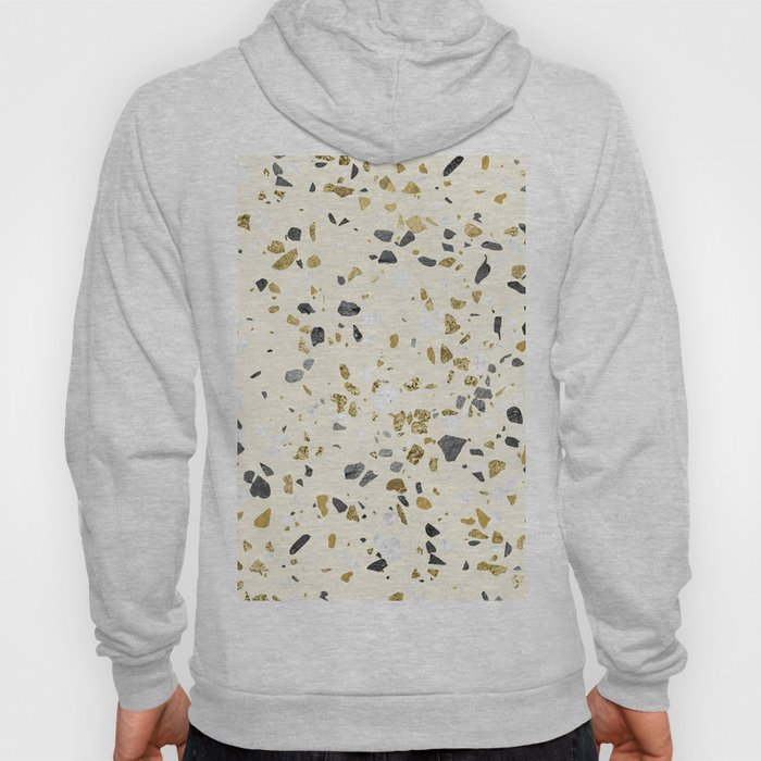 Glitter and Grit Yellow Gold Marble Hoody