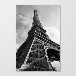 Eiffel in greyscale Canvas Print
