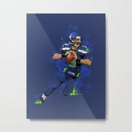 Russell Wilson QB 3 Seattle Seahawks Metal Print