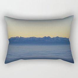Mountains above the clouds Rectangular Pillow