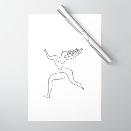 One line Picasso variant (with hair) Wrapping Paper
