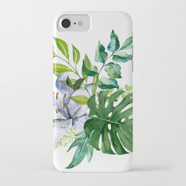 Flower and Leaves iPhone Case