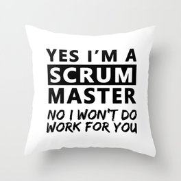 Scrum Master Gift Certified Scrum Master Throw Pillow