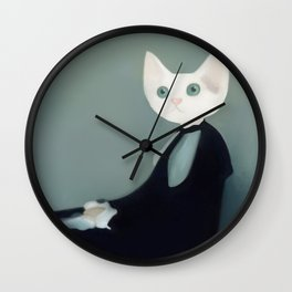 Whistler's Cat's Mother Wall Clock