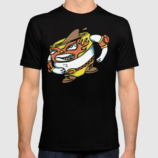 The flying luchador mug of coffee T-shirt