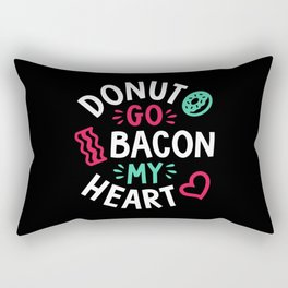 Donut Go Bacon My Heart Rectangular Pillow