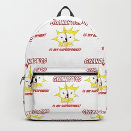 Gymnastics is my Superpower (Tiled Version) Backpack