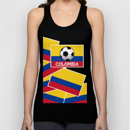 Colombia Football Unisex Tank Top