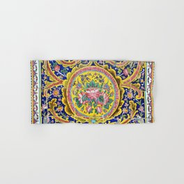 Floral Persian Tile Hand & Bath Towel