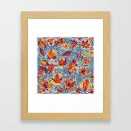 Autumnal leaves Framed Art Print