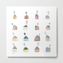 les petites maisons douillettes Metal Print