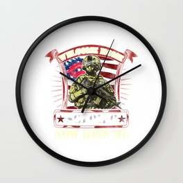 Welcome Home Soldier, Now Kiss Me! Military Wall Clock