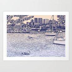 Charles River Esplanade Art Print
