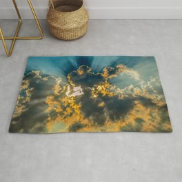 Sun Coming Through the Clouds Rug