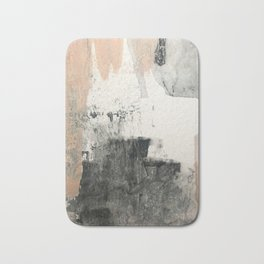 Peace and Quiet [1]: a pretty, minimal abstract piece in gray and peach by Alyssa Hamilton Art Bath Mat
