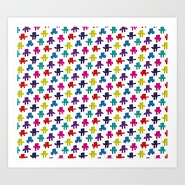Aesthetics: abstract pattern - constructive Art Print