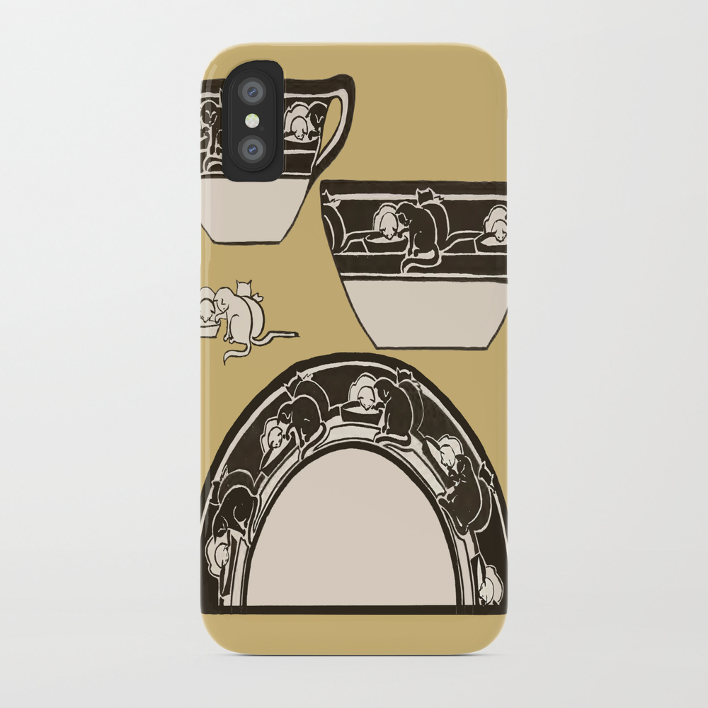 Cup & Saucer With Cats Phone Case by Artprintcumbria PCS8864615