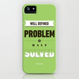 Well defined problem iPhone Case
