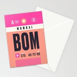 Baggage Tag A - BOM Mumbai Airport India Stationery Cards