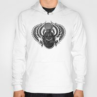 egyptian Hoodies featuring Egyptian Scarab by BIOWORKZ