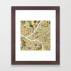 Pittsburgh Map Framed Art Print